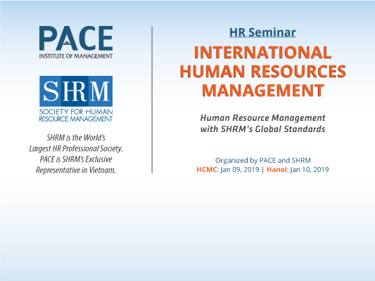 INFO SESSION: INTERNATIONAL HUMAN RESOURCE MANAGEMENT IN HOCHIMINH CITY AND HA NOI